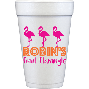 styrofoam cups |  final flamingle