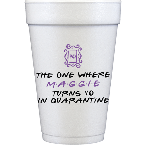 styrofoam cups | friends