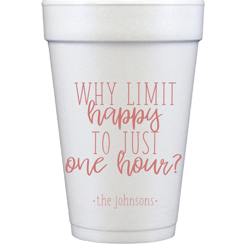 styrofoam cups | happy hour