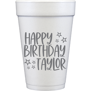 styrofoam cups | birthday stars