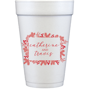 styrofoam cups | holiday frame