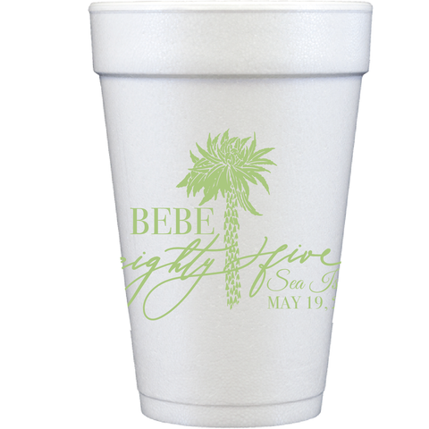 styrofoam cups | palm tree