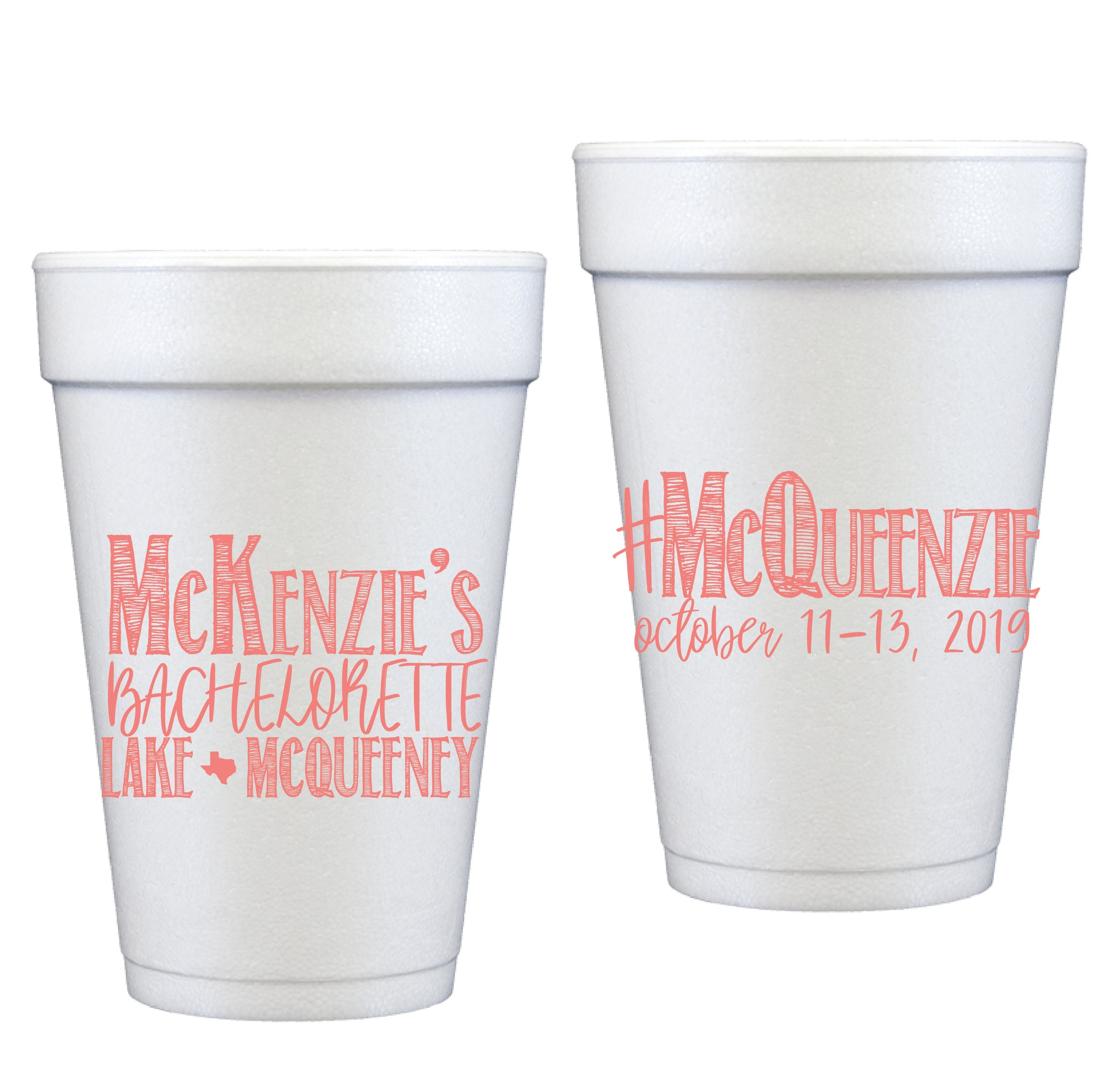 styrofoam cups |  party fonts