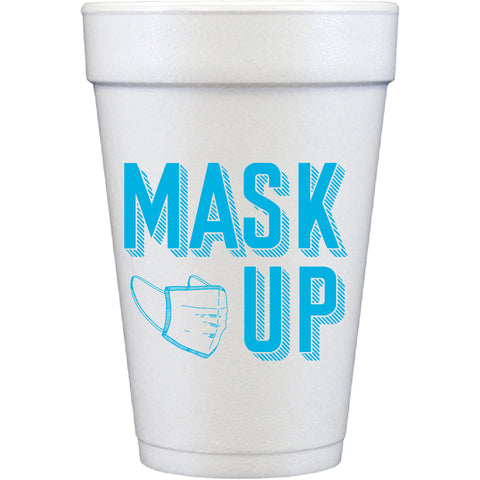 styrofoam cups | mask up