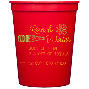 stadium cups | recipe collection | ranch water