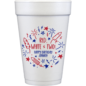 styrofoam cups | patriotic birthday
