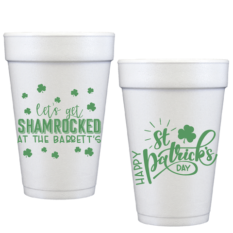 styrofoam cups |  shamrocked