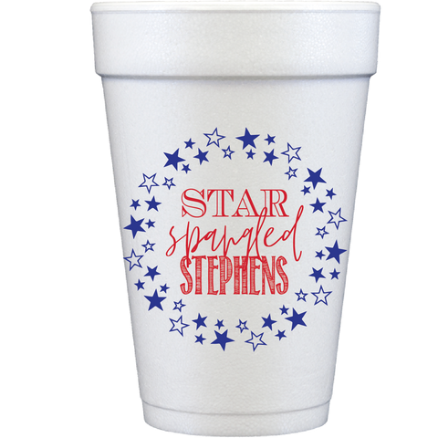 styrofoam cups | star spangled