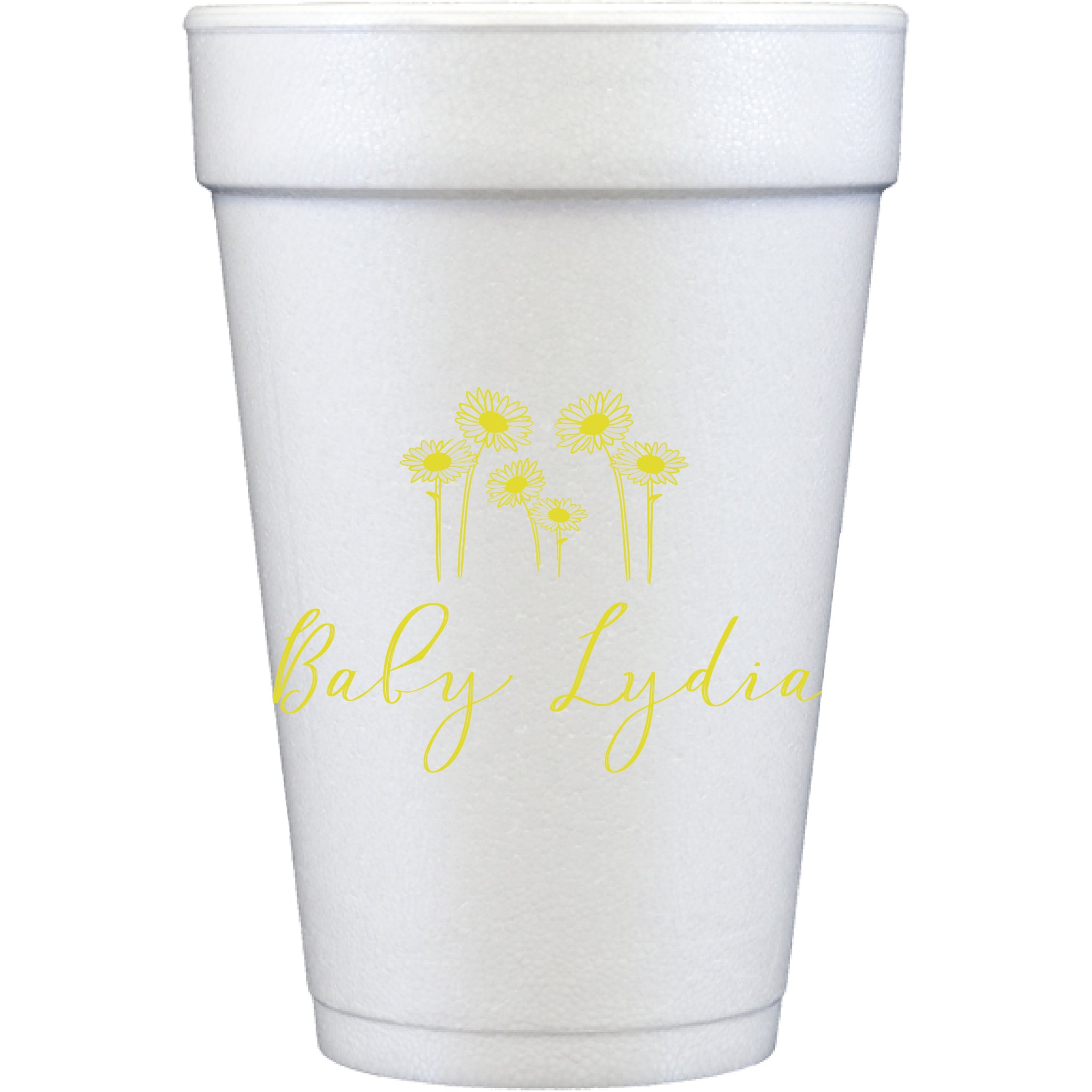 styrofoam cups | sunflowers