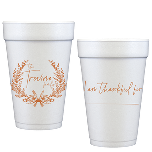 styrofoam cups | thankful