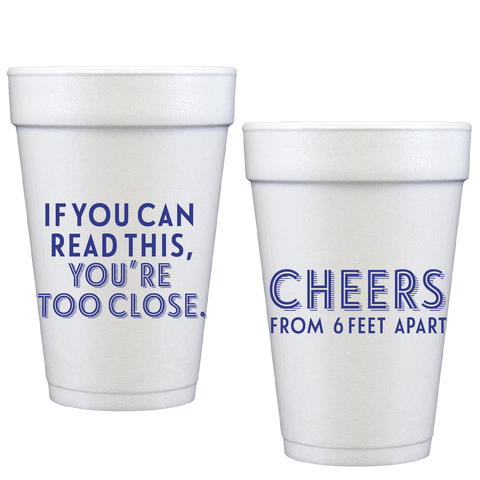 styrofoam cups | too close