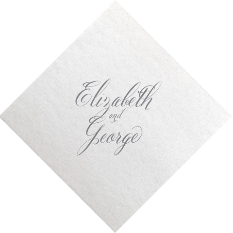 napkins | wedding calligraphy