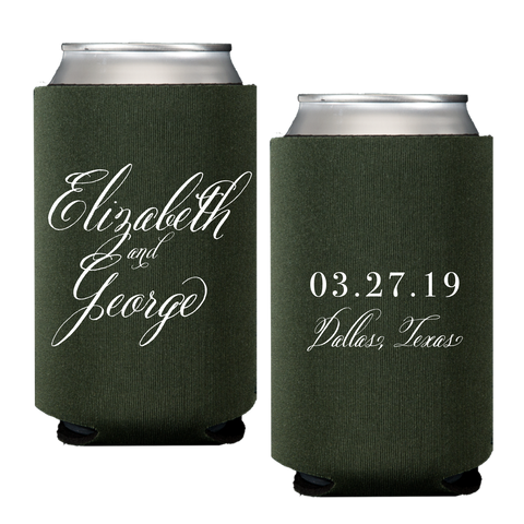koozie | wedding calligraphy