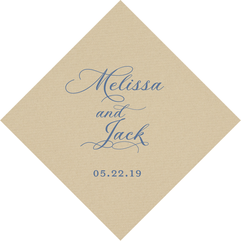 napkins | wedding flourish script