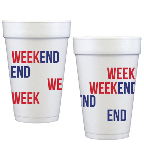 styrofoam cups | week end