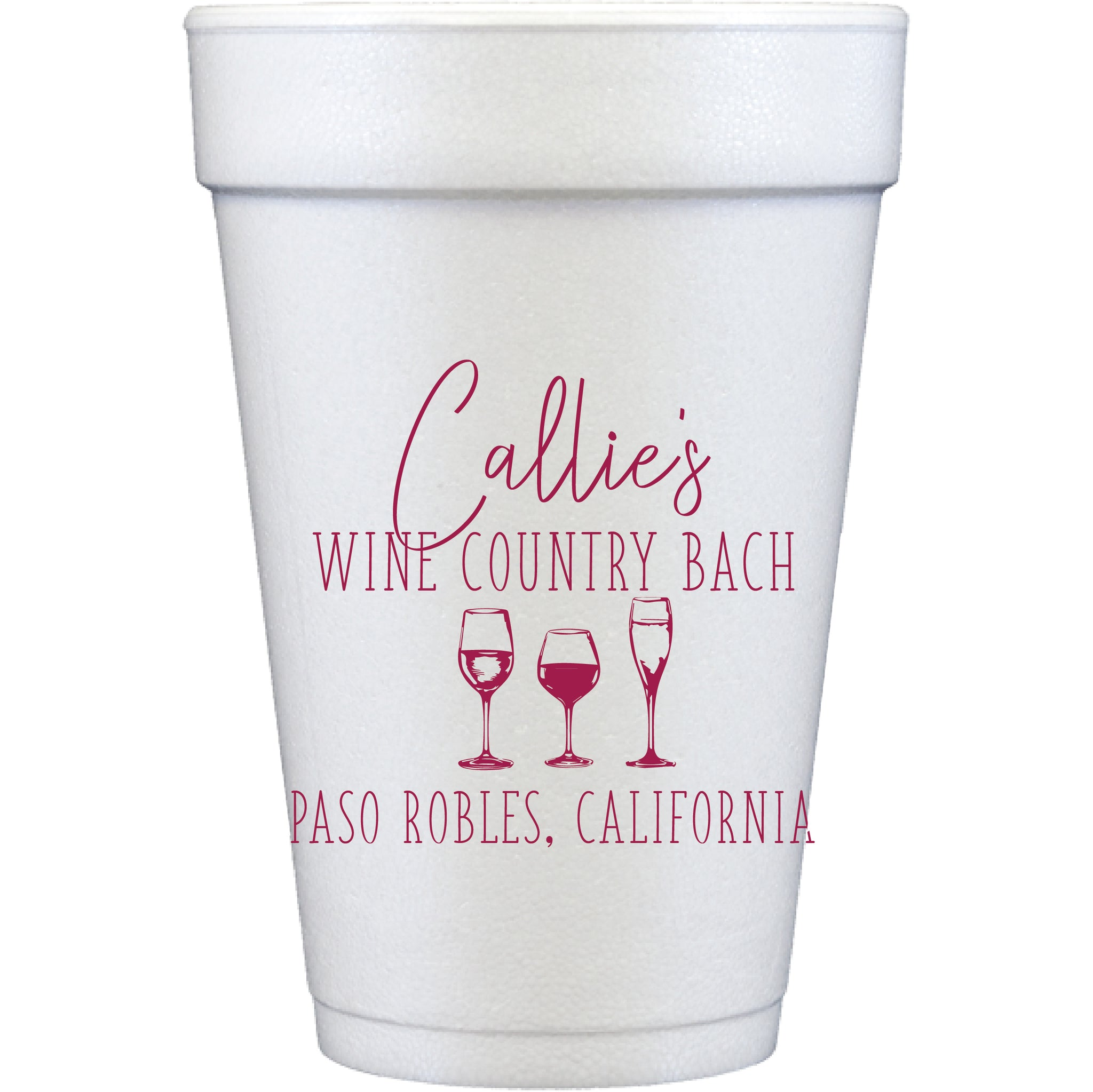 styrofoam cups | wine country