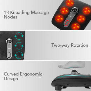 shiatsu foot massager with heater and kneading shoplexcity