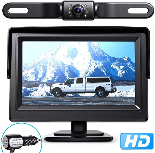 Car Backup Camera with 4.3 inch Monitor and Night Vision - Shoplexcity