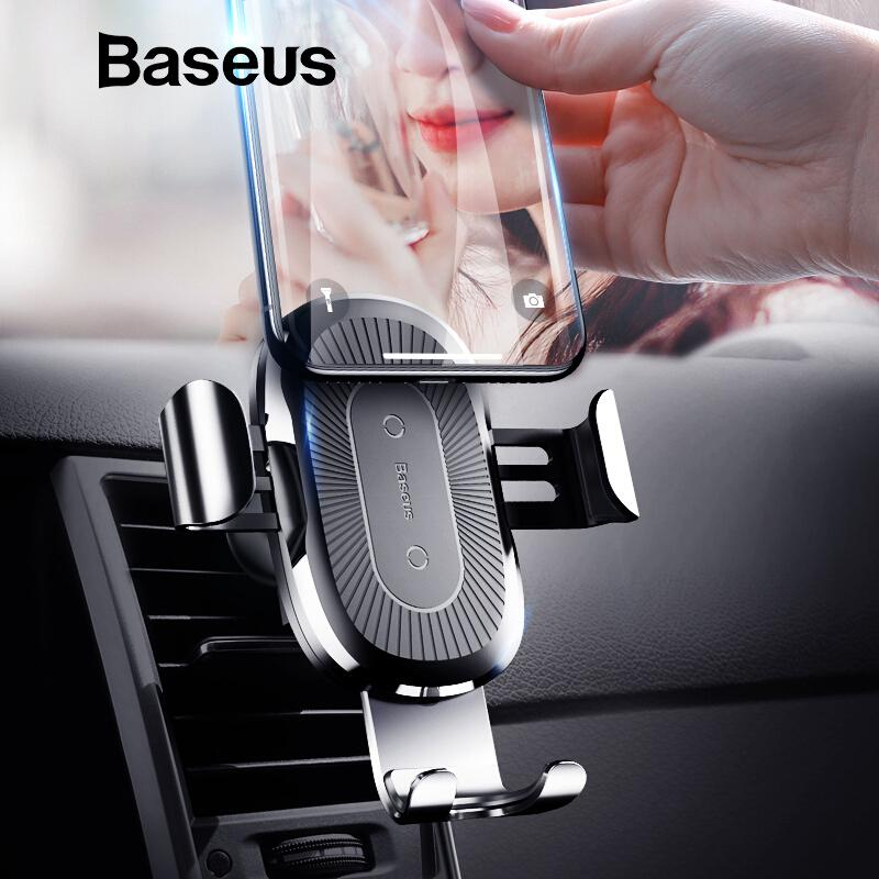 Baseus Qi Wireless Car Charger Mount iPhone Samsung 10W - Shoplexcity