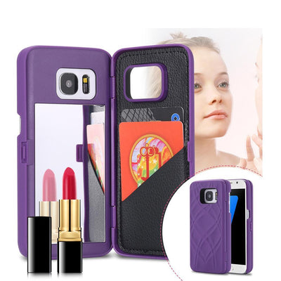 Mirror Flip Card Holder Phone Case