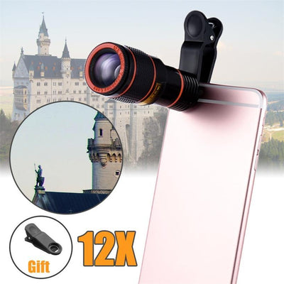 PhotoGen HD 12x Optical Zoom Mobile Phone Camera Lens Universal