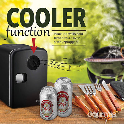 Mini Fridge Cooler and Warmer with Bluetooth Speaker - Shoplexcity
