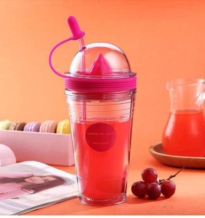 Fruit Infuser Cup with Straw