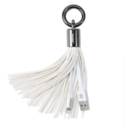 USB Cable Leather Tassel