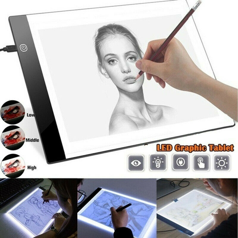 LED Tracing Light Box Drawing Board Art Pad Diamond Painting Table Copy Station - Shoplexcity