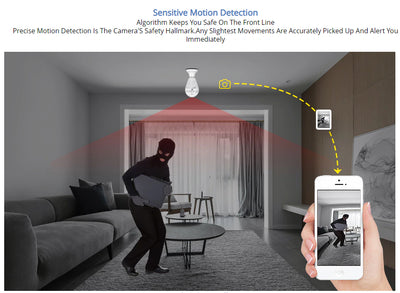 SafeGuard Wireless LED Bulb 960P Wifi Security Camera - Shoplexcity