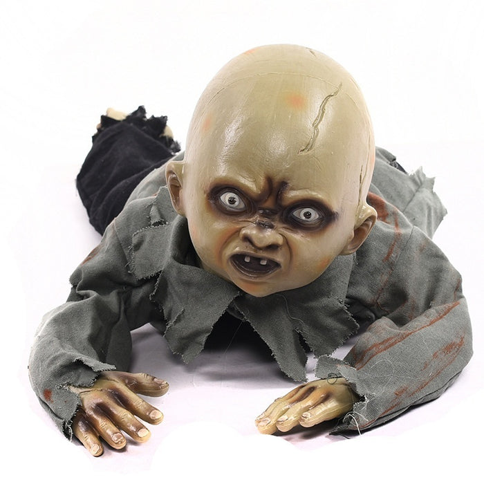 Halloween Zombie Baby Prop.Halloween Party Prop Animated Baby Crawling Zombie Ghost Skull Eyes With Lights Party Decoration