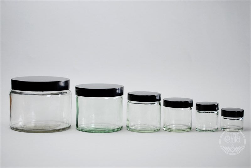 OINTMENT JAR CLEAR GLASS - Star Child