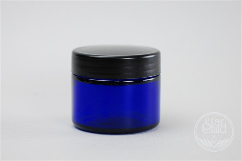 Ointment Jar Blue Glass By Star Child Glastonbury