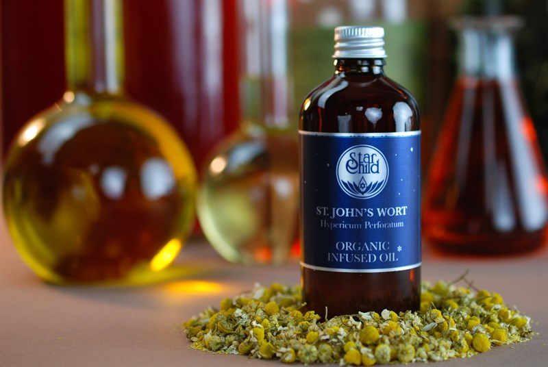 St. John's Wort Infused Oil Organic By Star Child Glastonbury