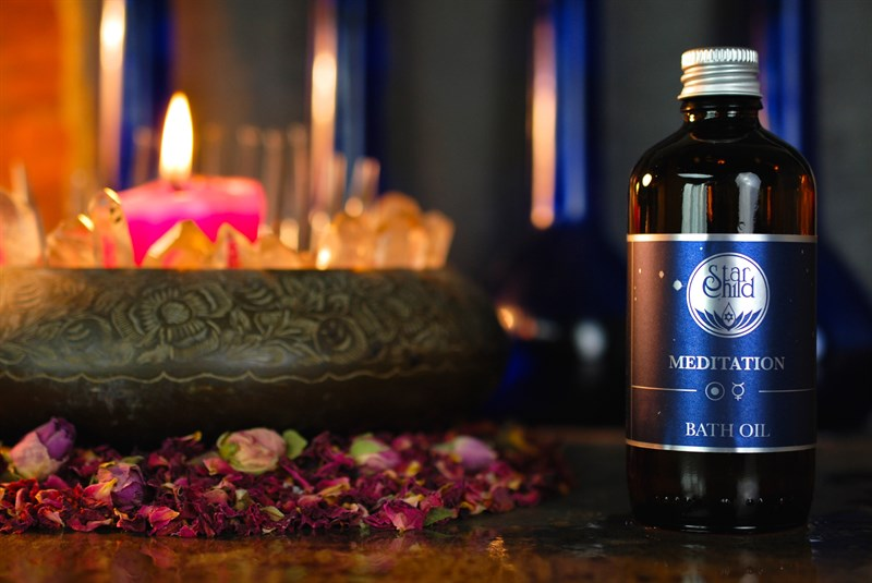 Meditation Bath Oil By Star Child Glastonbury