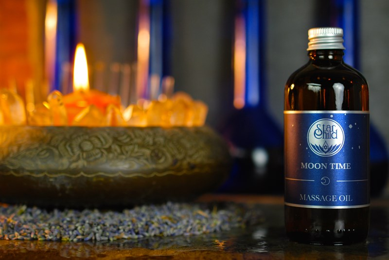 Moon Time Massage Oil By Star Child Glastonbury