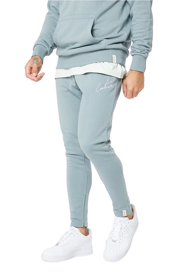 The Couture Club Essential Joggers Grey And Blue