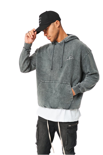 The Couture Club Oversized Essential Hoodie Acid Wash