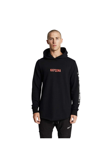 Nena And Pasadena Above All Dual Curved Hoodie Jet Black
