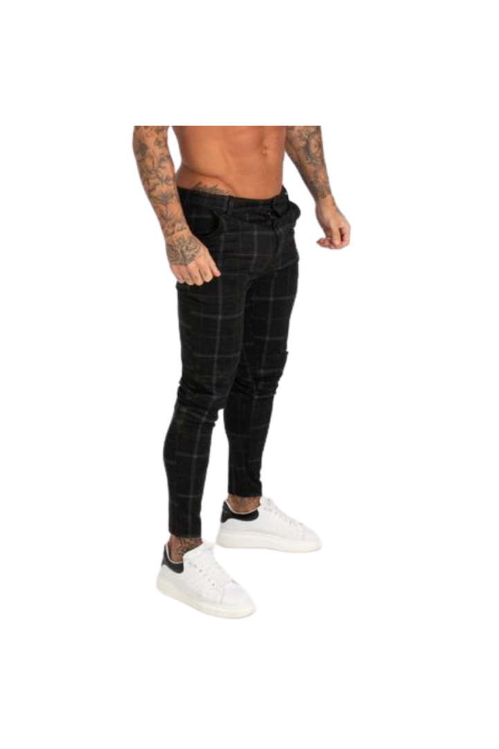 La Haute Dark Check Pants