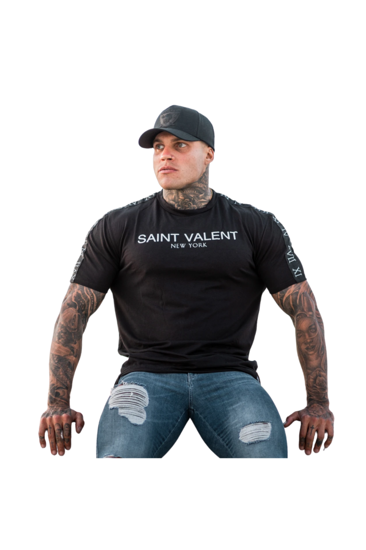 Saint Valent Black New York Luxury Collection Black T-shirt