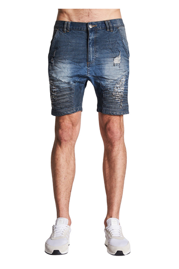 Nena & Pasadena Petrol Blue Destroyer Shorts