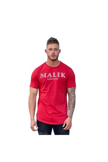 Malik Couture  Red Valencia T-shirt
