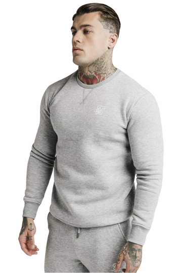 Sik Silk Crew Neck Sweater Grey