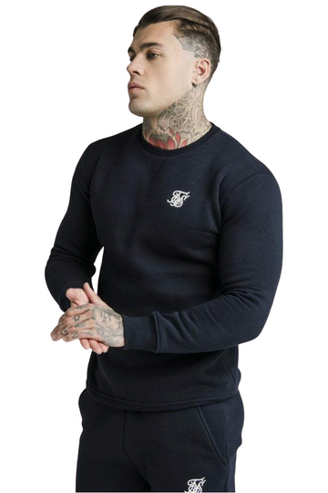 Sik Silk Crew Neck Sweater Navy