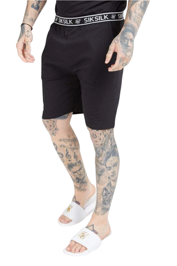 Sik Silk Black Loose Fit Jersey Shorts