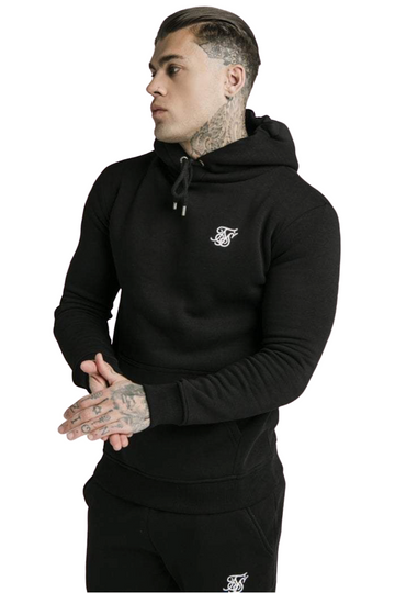 Sik Silk Muscle Fit Overhead Hoodie Black