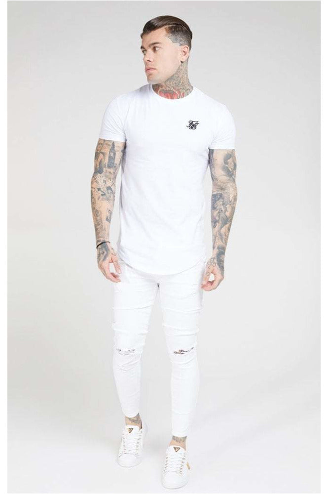 Sik Silk White Skinny Denim Jeans
