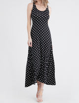 Scooped Neckline Tanktop Style Comfortable Maxi Dress