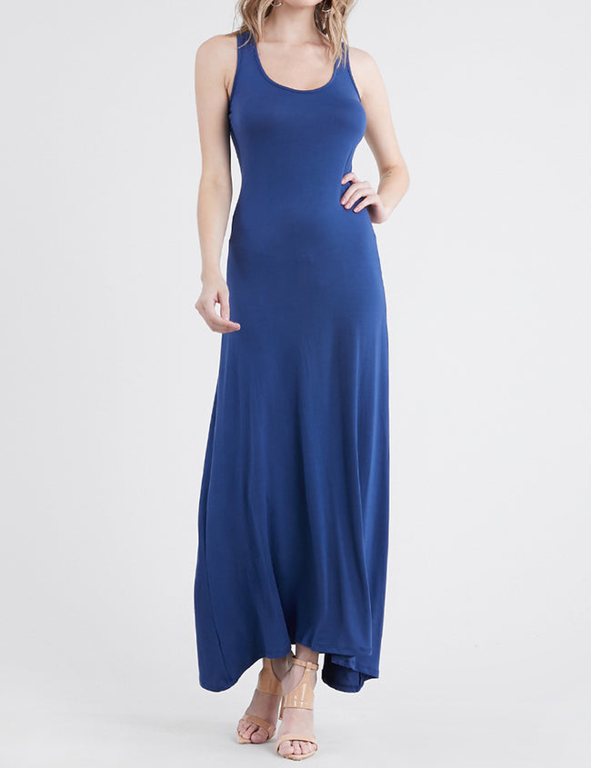 NAVY | AWDMD0190 Scooped Neckline Tanktop Style Comfortable Maxi Dress